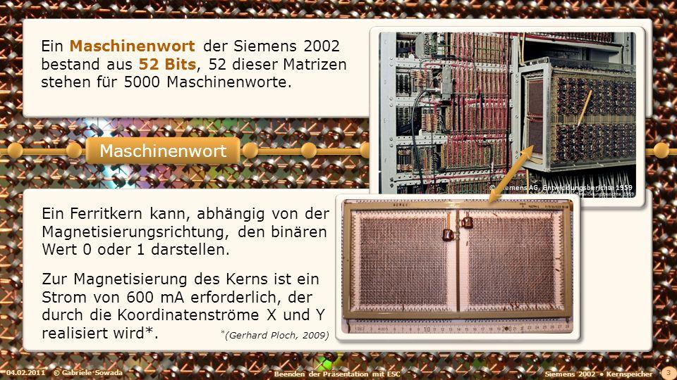 Ein Maschinenwort der Siemens 2002 bestand aus 52 Bits, 52 dieser Matrizen stehen für 5000 Maschinenworte.