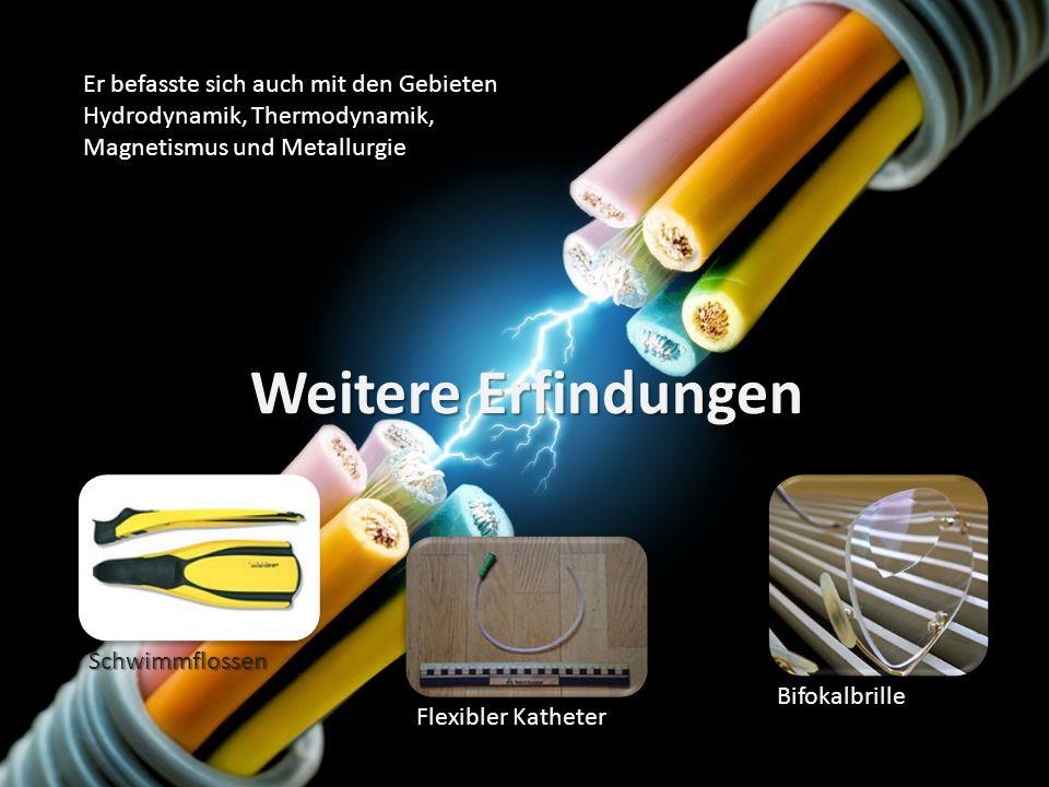 Er befasste sich auch mit den Gebieten Hydrodynamik, Thermodynamik, Magnetismus und Metallurgie