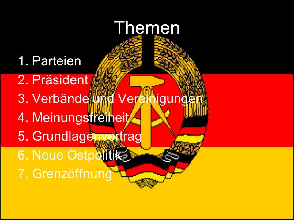 Themen 1. Parteien 2. Präsident 3. Verbände und Vereinigungen