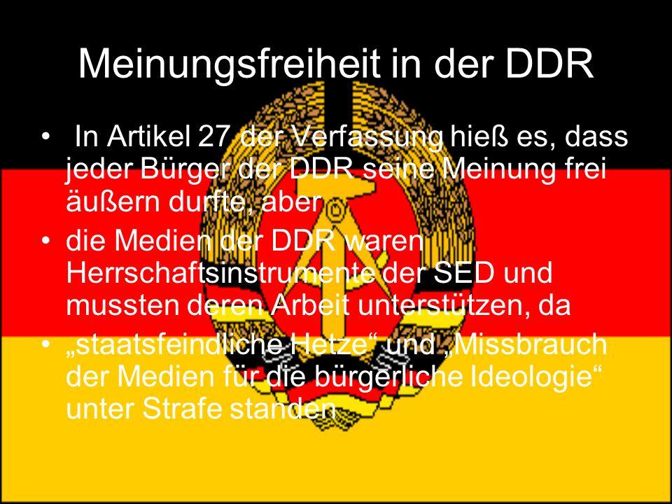 Meinungsfreiheit in der DDR