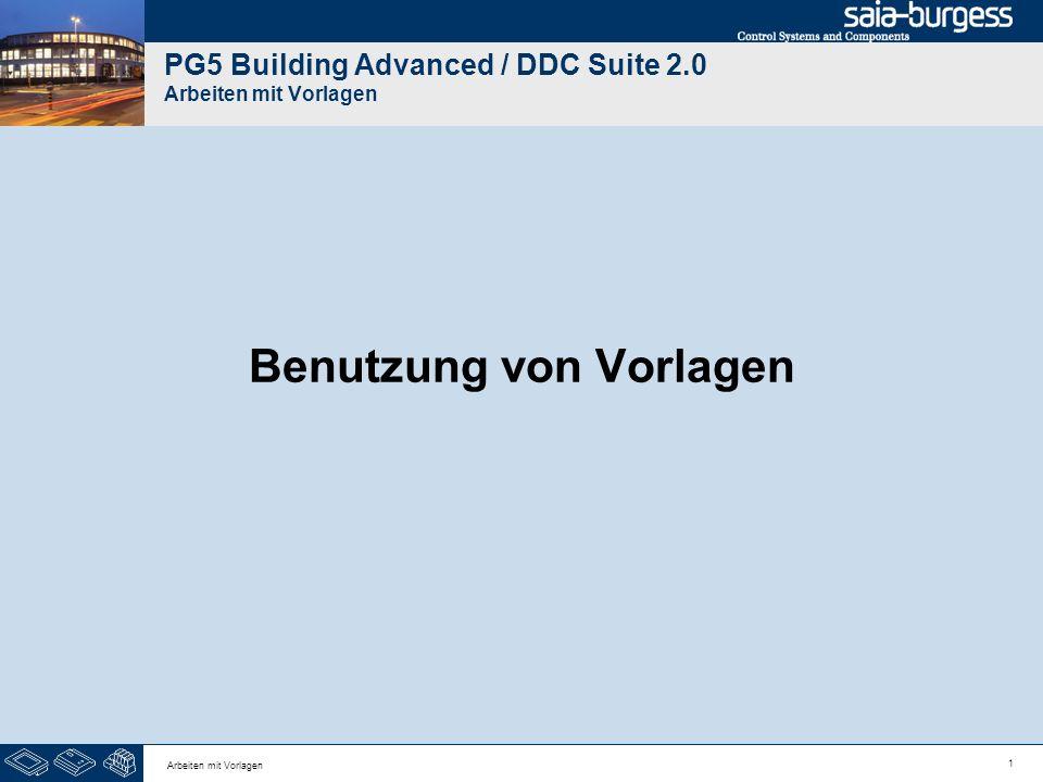 PG5 Building Advanced / DDC Suite 2.0 Arbeiten mit Vorlagen