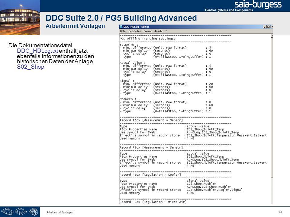 DDC Suite 2.0 / PG5 Building Advanced Arbeiten mit Vorlagen