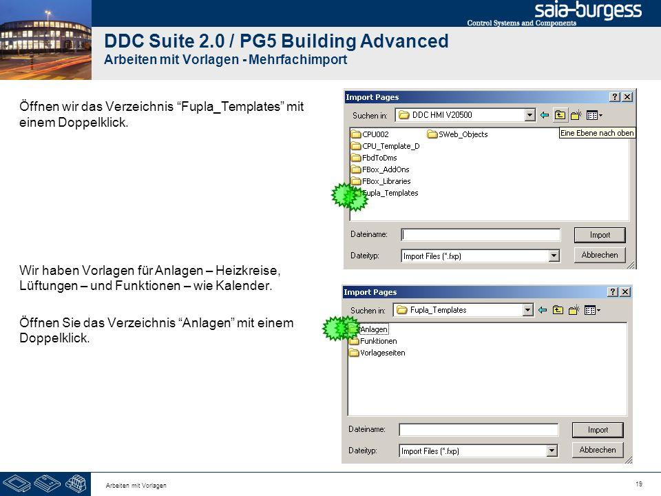 DDC Suite 2.0 / PG5 Building Advanced Arbeiten mit Vorlagen - Mehrfachimport