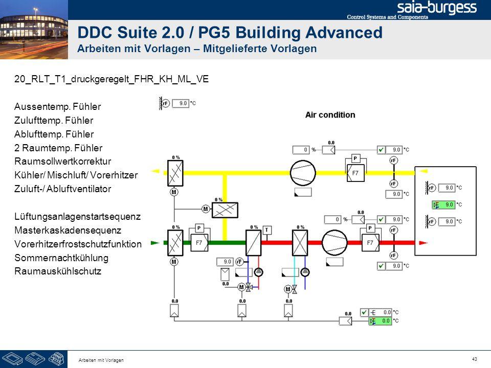 DDC Suite 2.0 / PG5 Building Advanced Arbeiten mit Vorlagen – Mitgelieferte Vorlagen