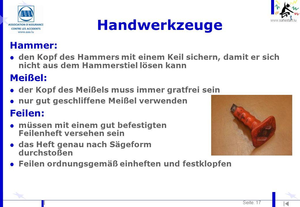 Handwerkzeuge Hammer: Meißel: Feilen: