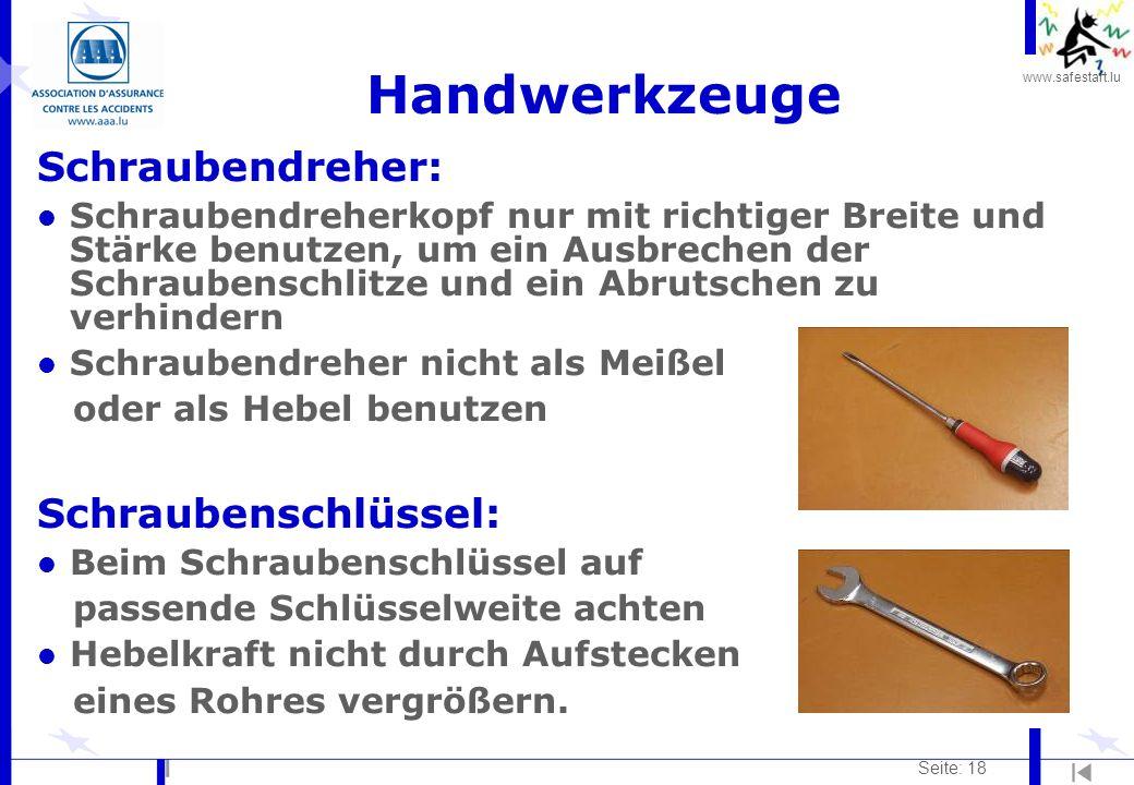 Handwerkzeuge Schraubendreher: Schraubenschlüssel: