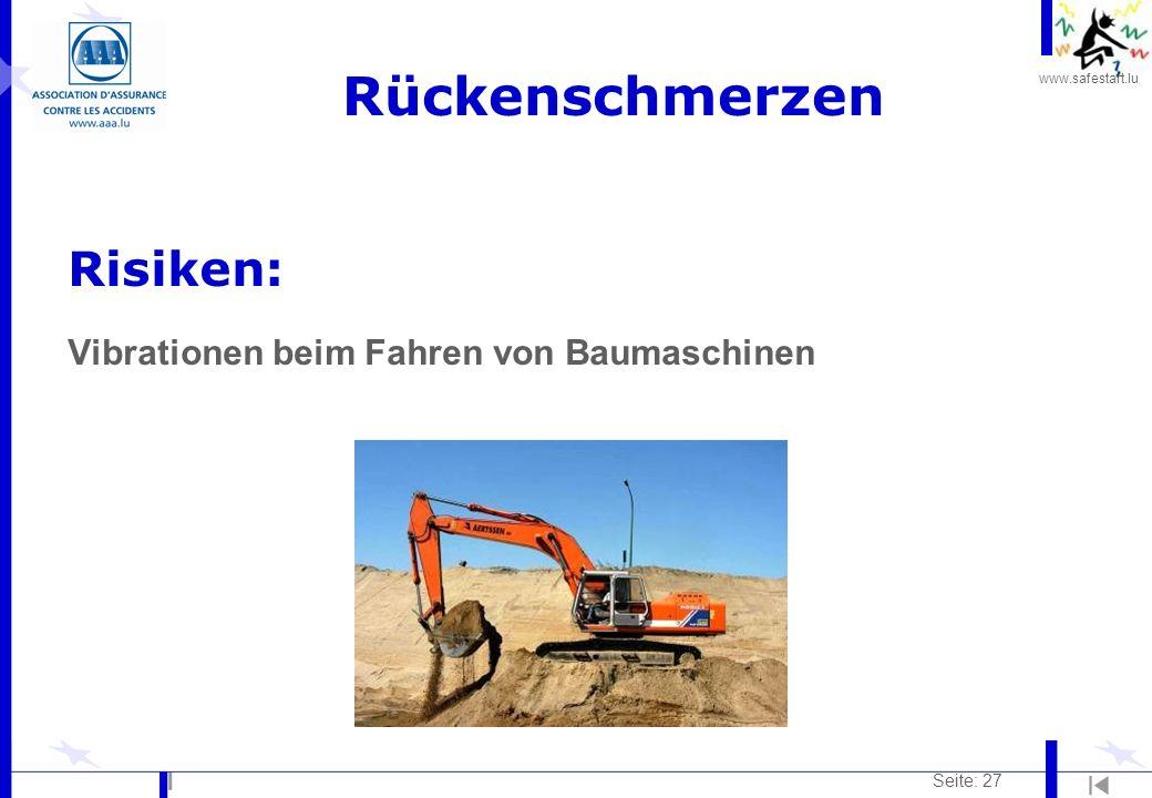 Rückenschmerzen Risiken: Vibrationen beim Fahren von Baumaschinen