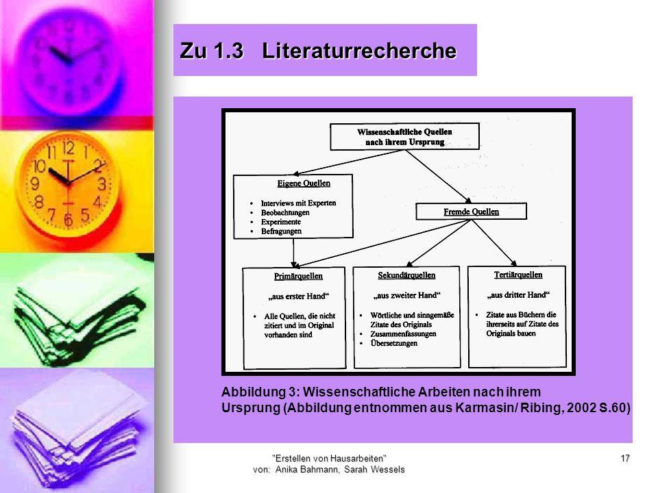 Zu 1.3 Literaturrecherche