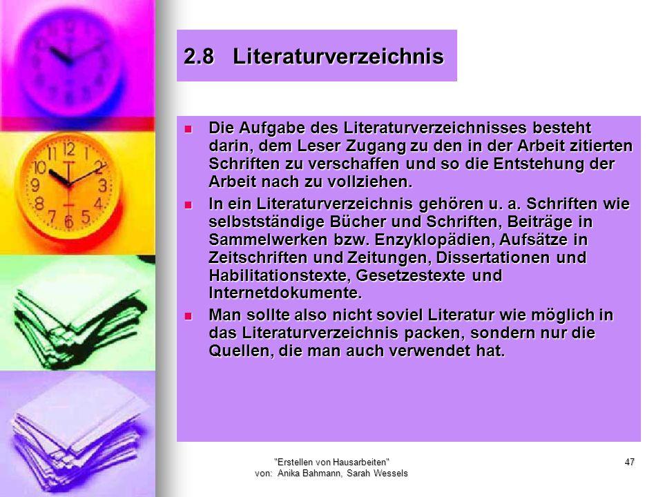 2.8 Literaturverzeichnis