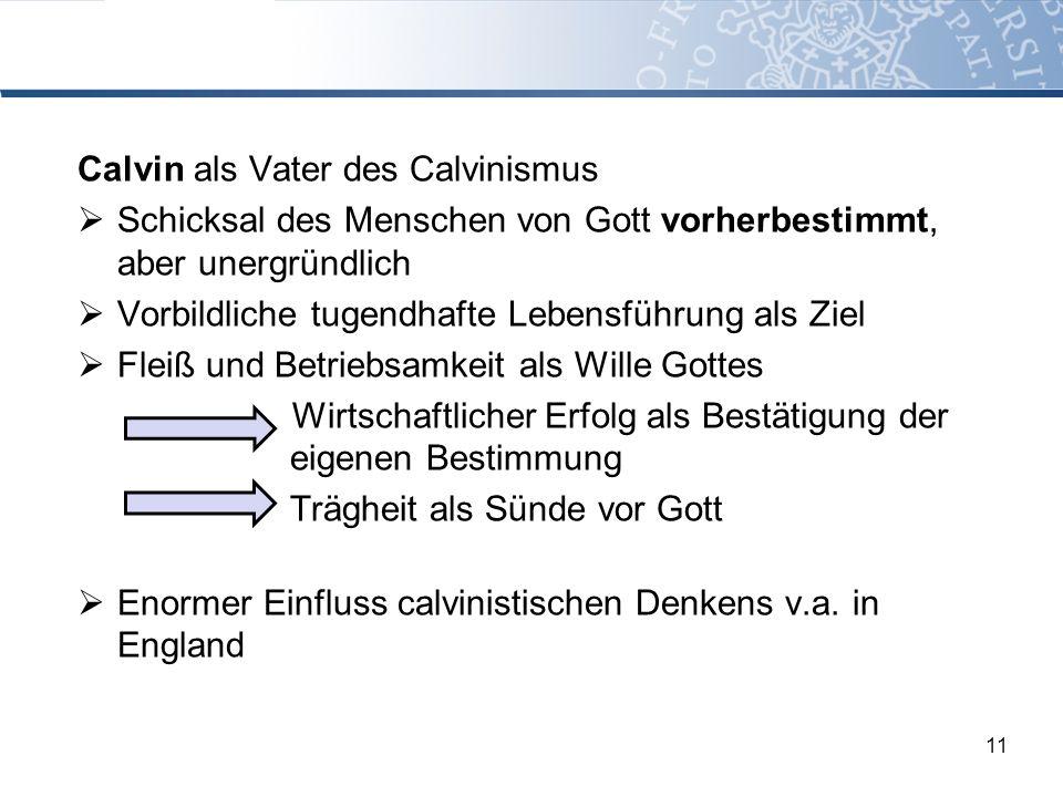 Calvin als Vater des Calvinismus