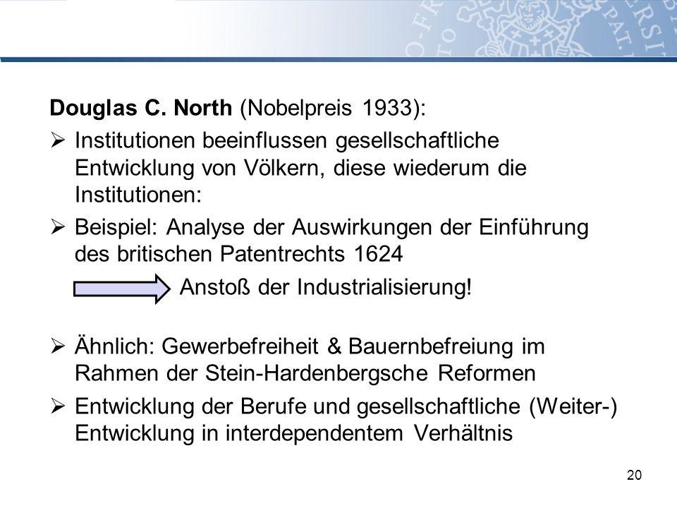 Douglas C. North (Nobelpreis 1933):