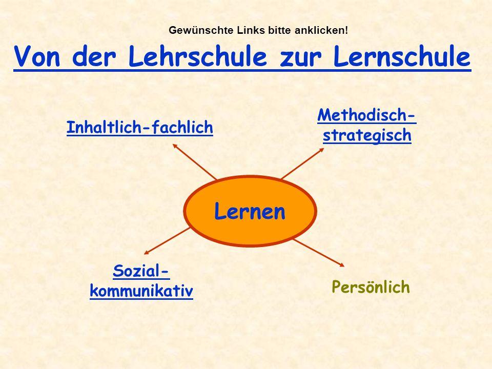 Gewünschte Links bitte anklicken! Methodisch-strategisch