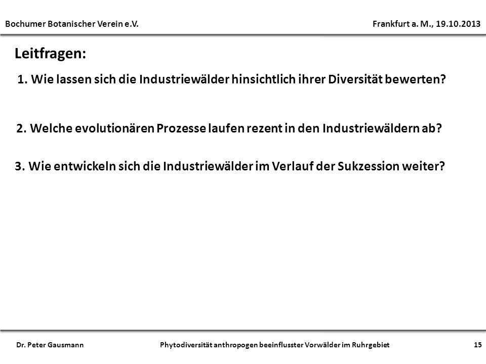Bochumer Botanischer Verein e.V. Frankfurt a. M., 19.10.2013