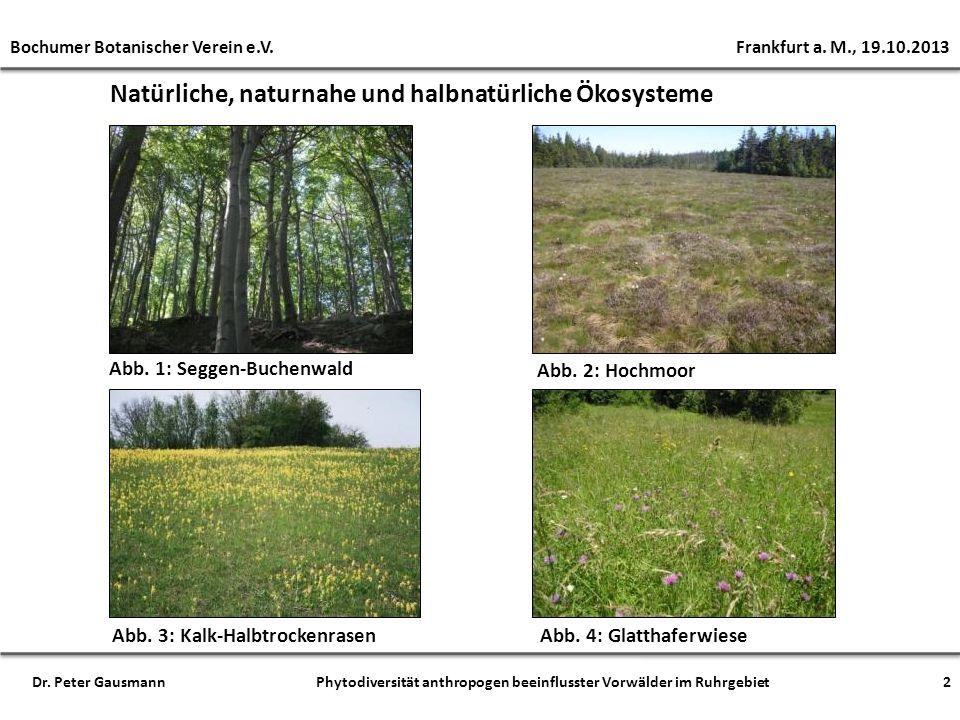 Natürliche, naturnahe und halbnatürliche Ökosysteme