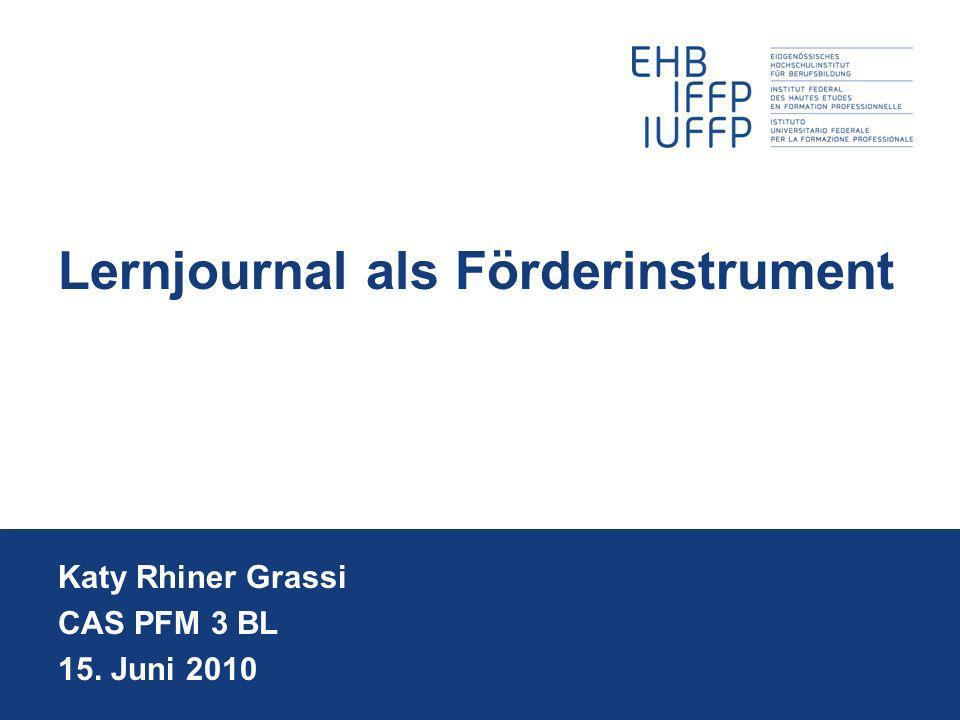 Lernjournal als Förderinstrument
