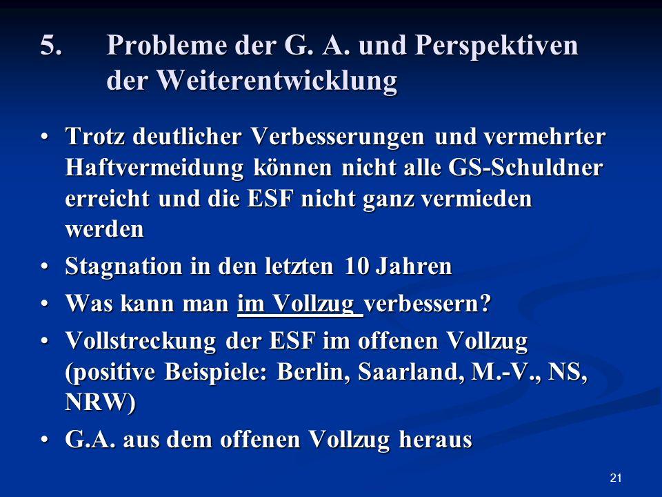 5. Probleme der G. A. und Perspektiven der Weiterentwicklung
