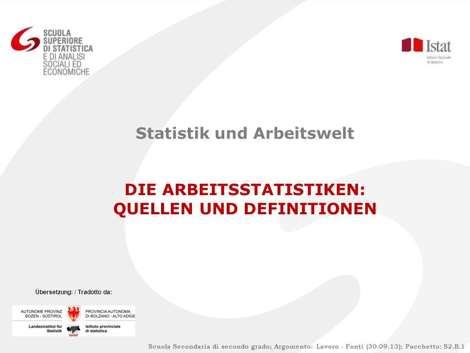 Statistik und Arbeitswelt