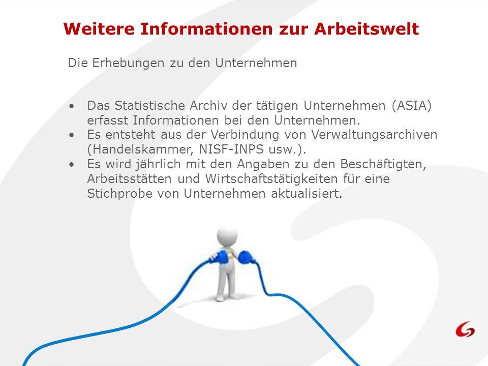 Weitere Informationen zur Arbeitswelt