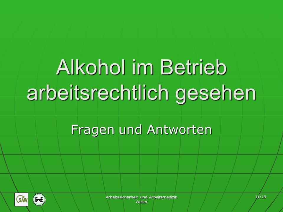 Alkohol im Betrieb arbeitsrechtlich gesehen