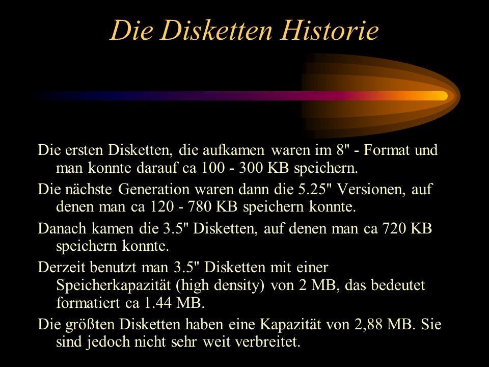 Die Disketten Historie