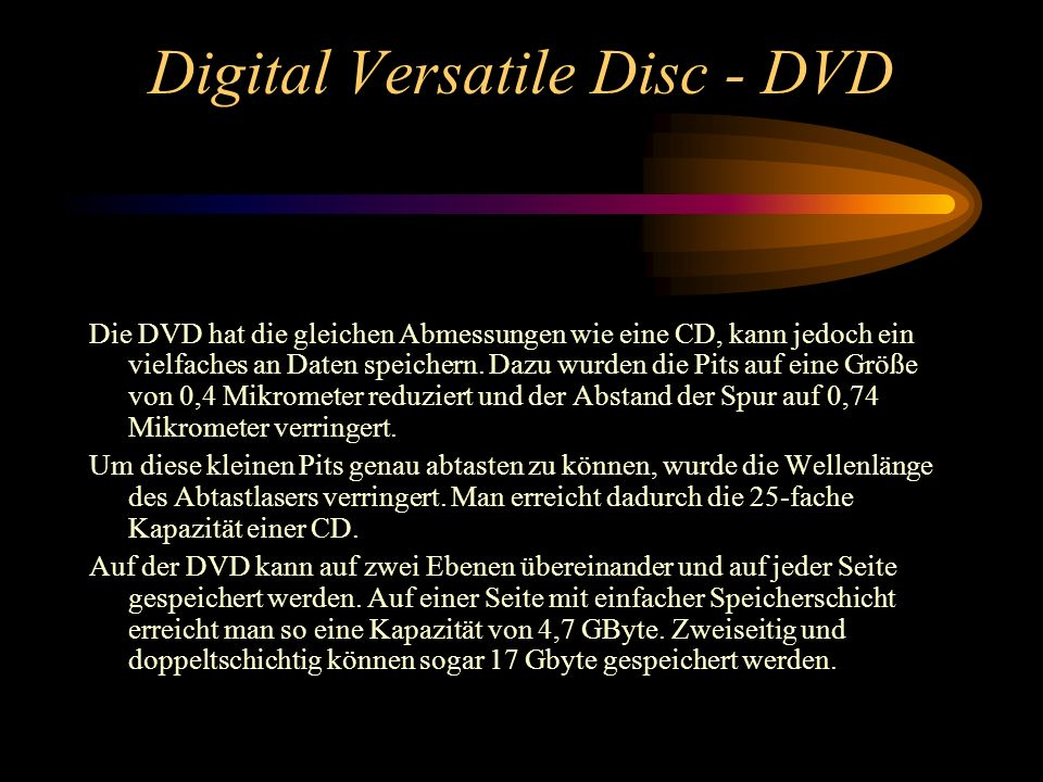 Digital Versatile Disc - DVD
