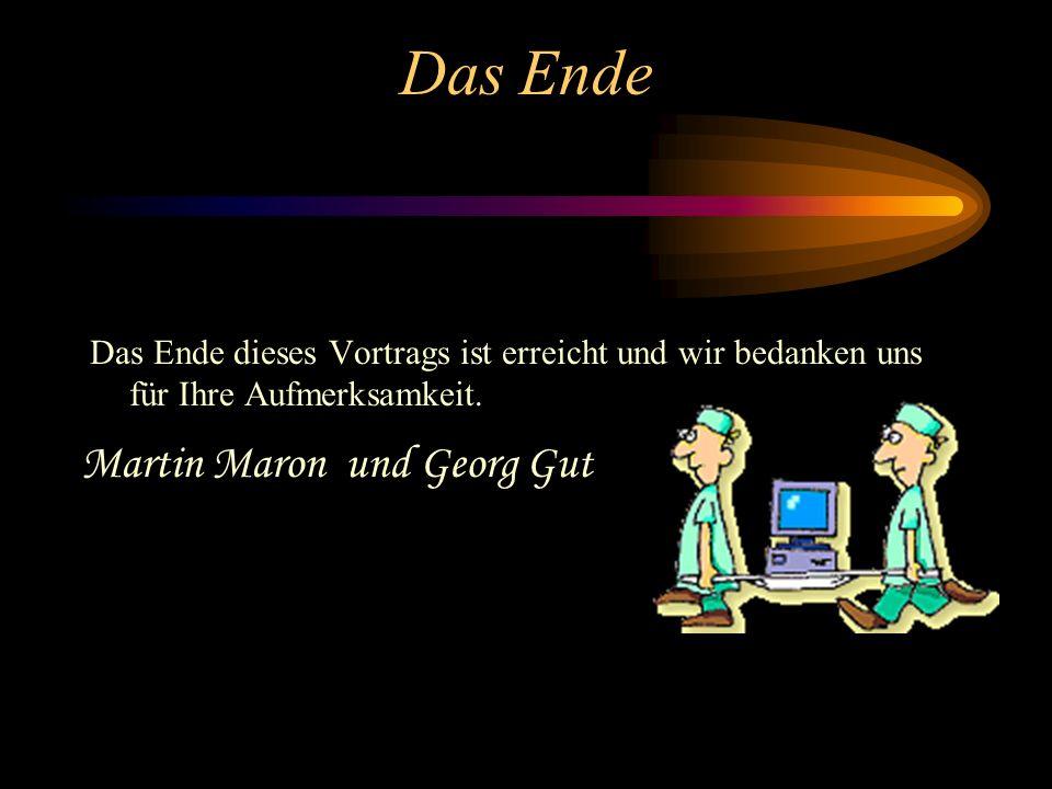 Das Ende Martin Maron und Georg Gut
