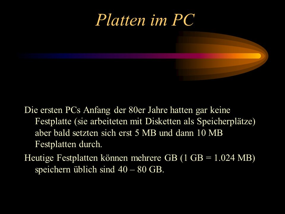 Platten im PC