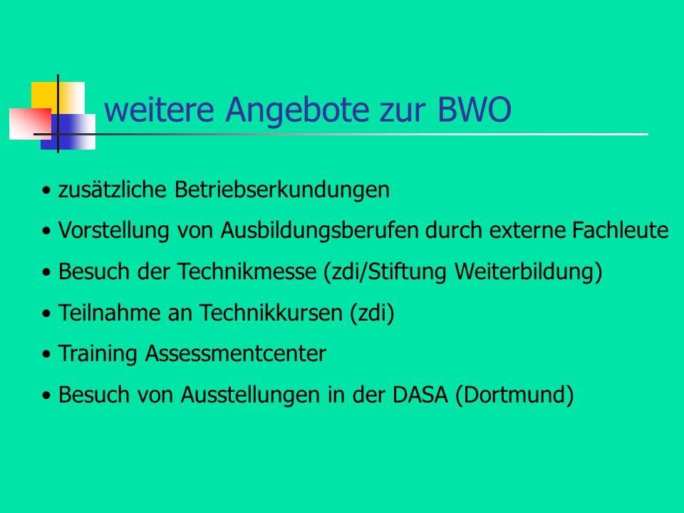 weitere Angebote zur BWO