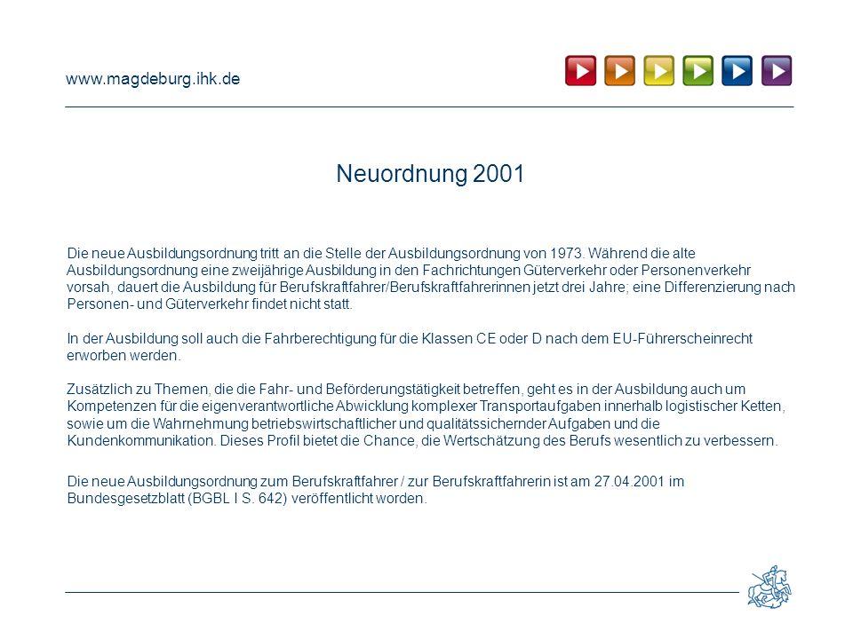 Neuordnung 2001