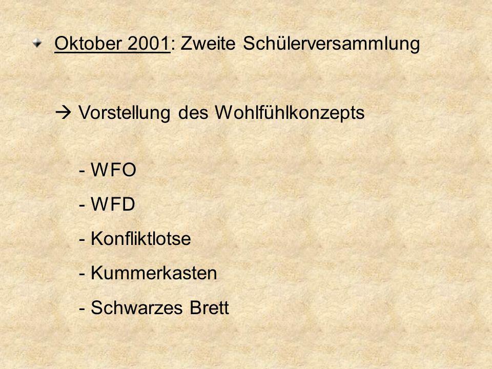 Oktober 2001: Zweite Schülerversammlung