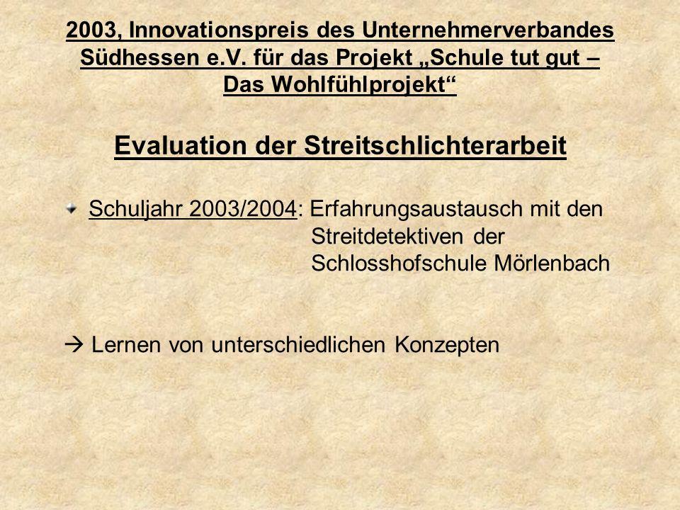 2003, Innovationspreis des Unternehmerverbandes Südhessen e. V