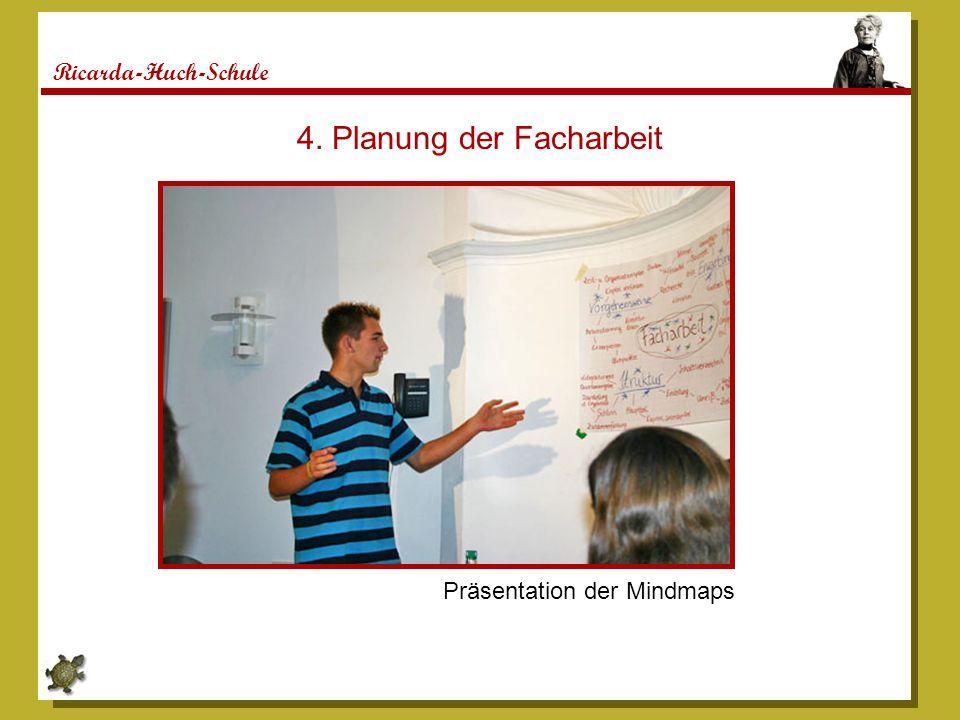4. Planung der Facharbeit