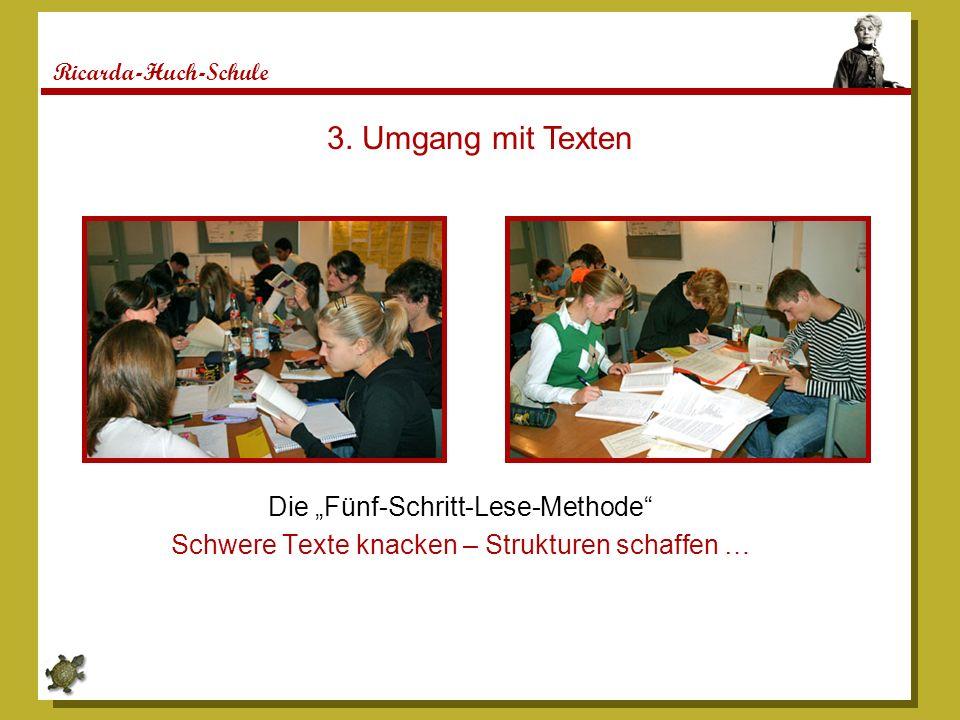 """3. Umgang mit Texten Die """"Fünf-Schritt-Lese-Methode"""