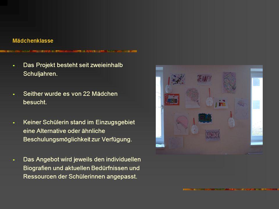 Das Projekt besteht seit zweieinhalb Schuljahren.