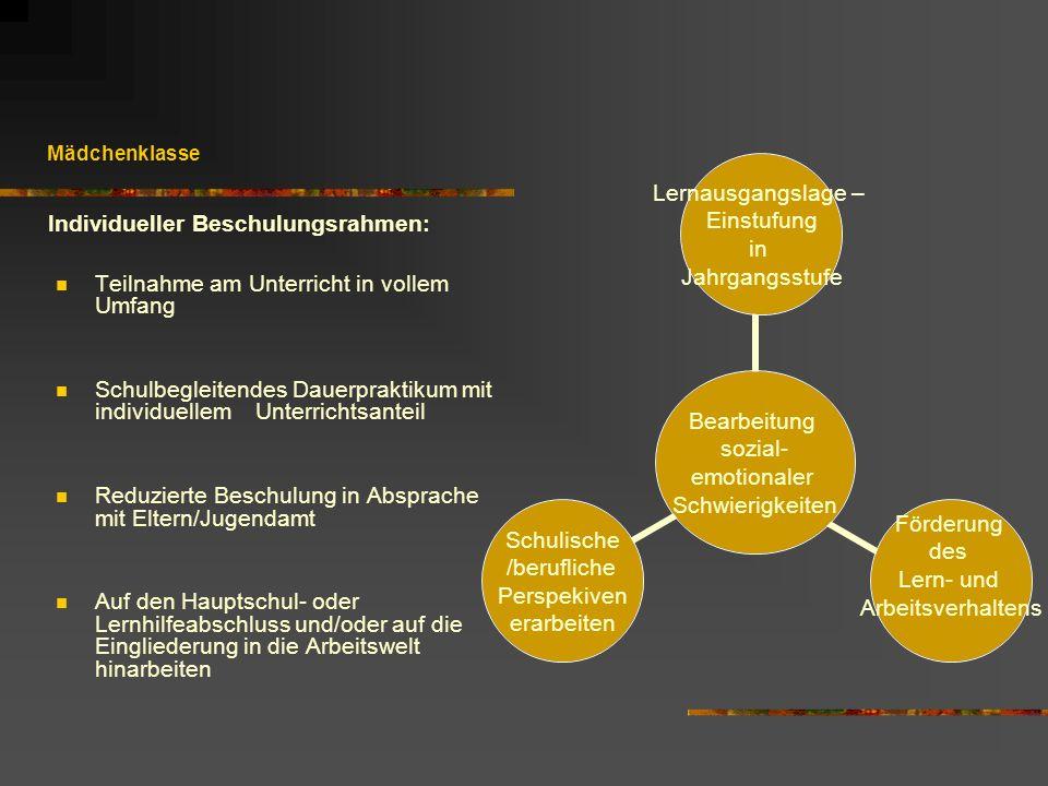 Individueller Beschulungsrahmen: