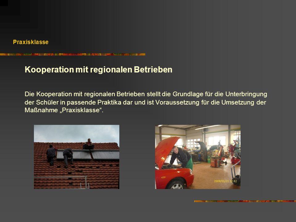 Kooperation mit regionalen Betrieben