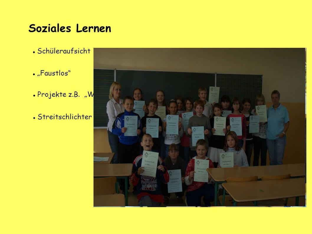 "Soziales Lernen Schüleraufsicht ""Faustlos"