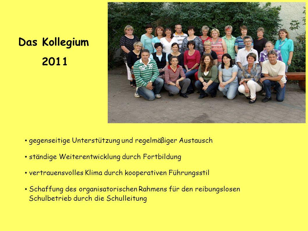 Das Kollegium 2011. gegenseitige Unterstützung und regelmäßiger Austausch. ständige Weiterentwicklung durch Fortbildung.