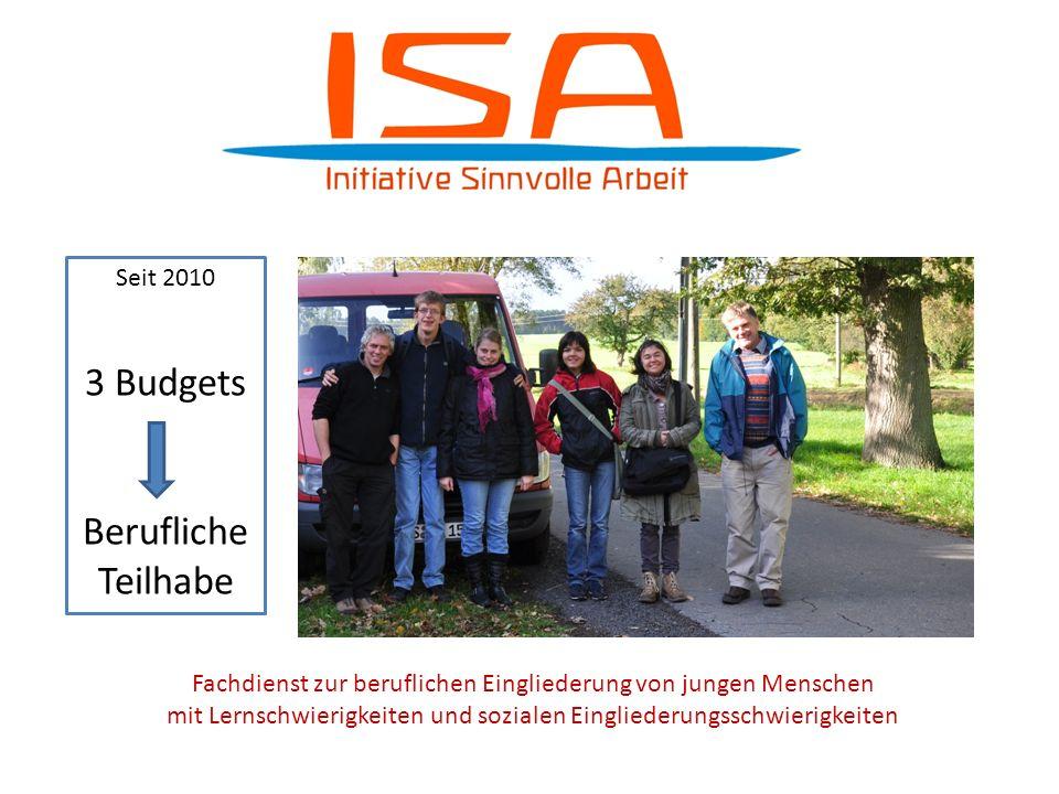 3 Budgets 3 Budgets Berufliche berufliche Teilhabe Teilhabe Seit 2010