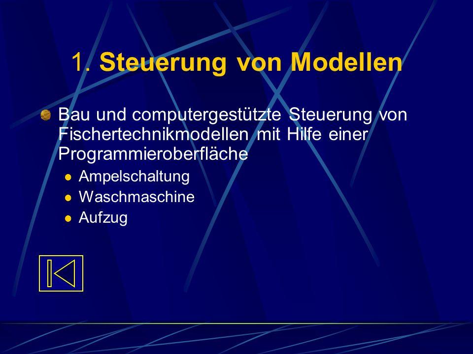 1. Steuerung von Modellen