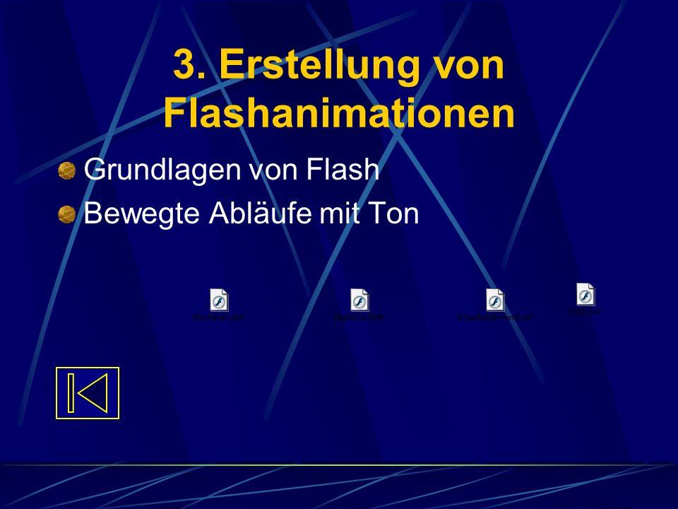 3. Erstellung von Flashanimationen