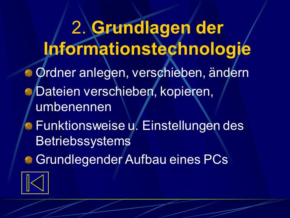 2. Grundlagen der Informationstechnologie