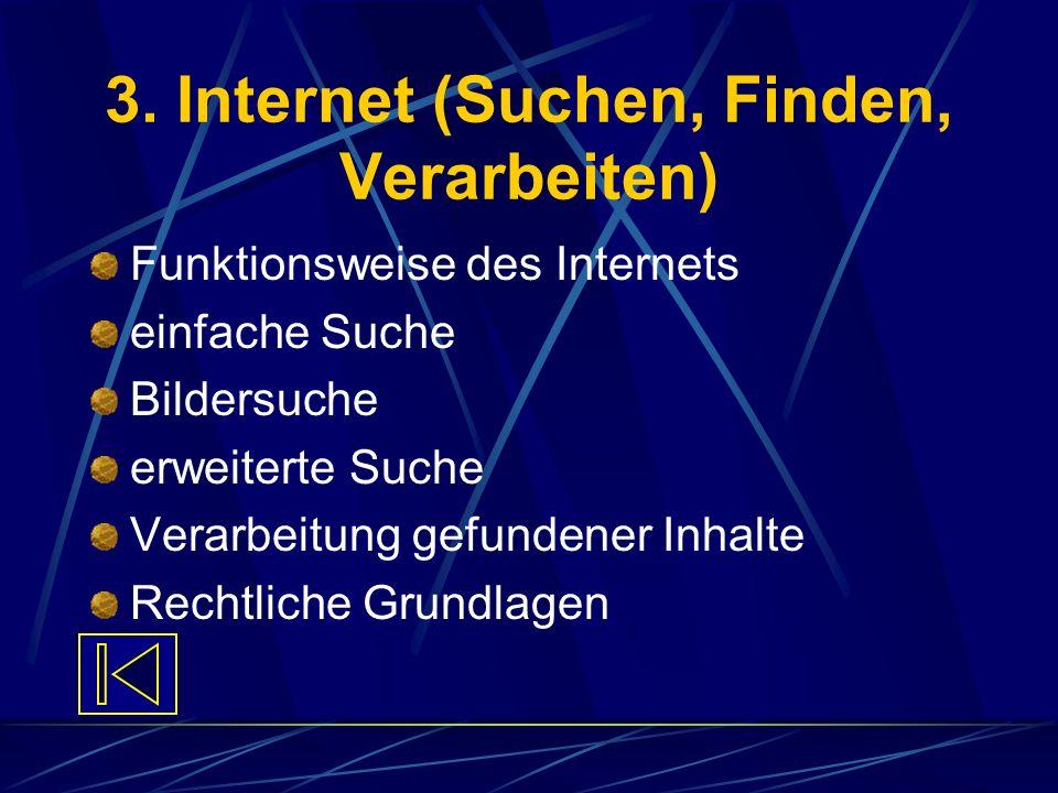 3. Internet (Suchen, Finden, Verarbeiten)
