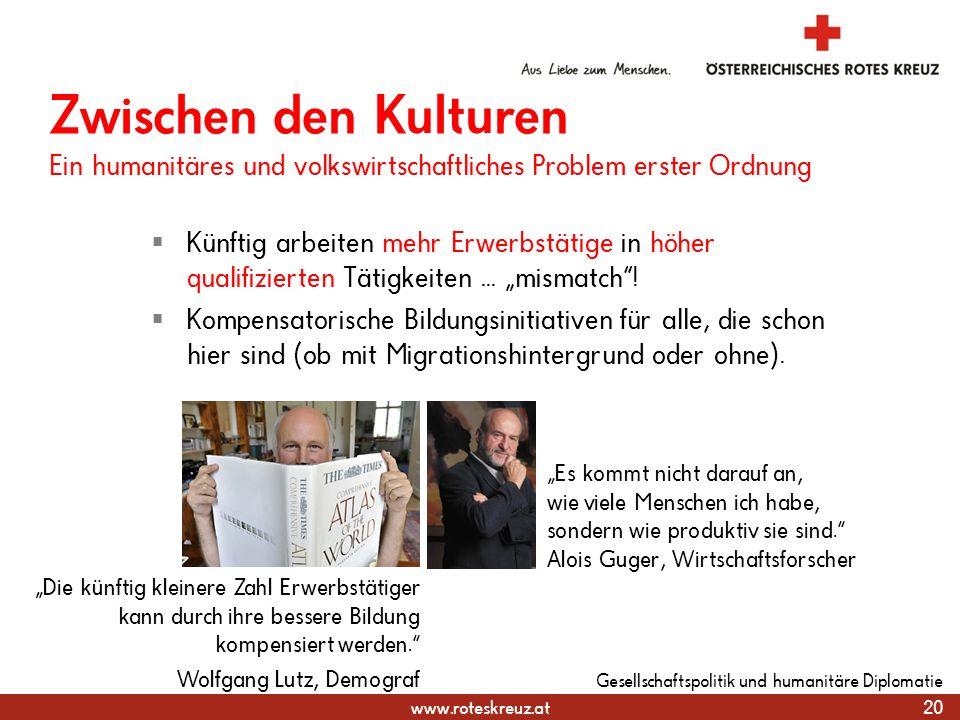31.03.2017 Zwischen den Kulturen Ein humanitäres und volkswirtschaftliches Problem erster Ordnung.