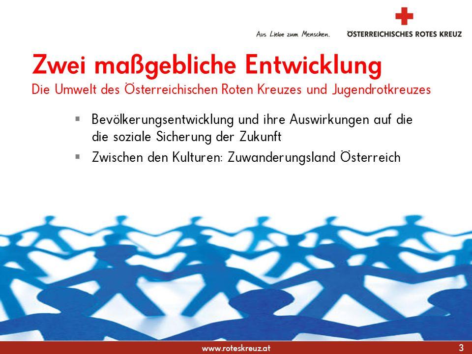 31.03.2017 Zwei maßgebliche Entwicklung Die Umwelt des Österreichischen Roten Kreuzes und Jugendrotkreuzes.
