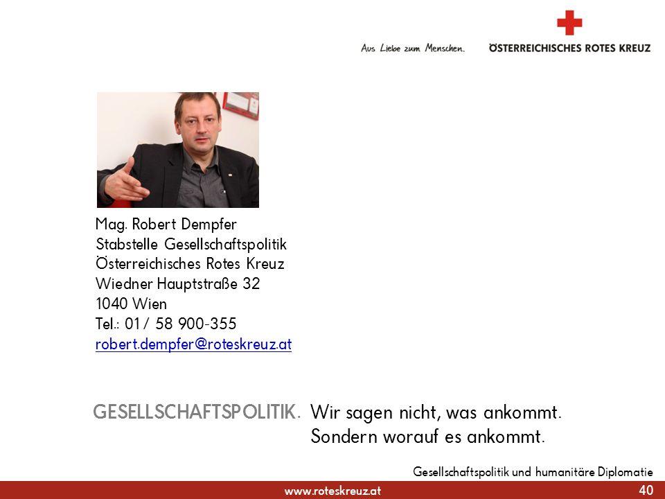 31.03.2017 Mag. Robert Dempfer. Stabstelle Gesellschaftspolitik Österreichisches Rotes Kreuz. Wiedner Hauptstraße 32.