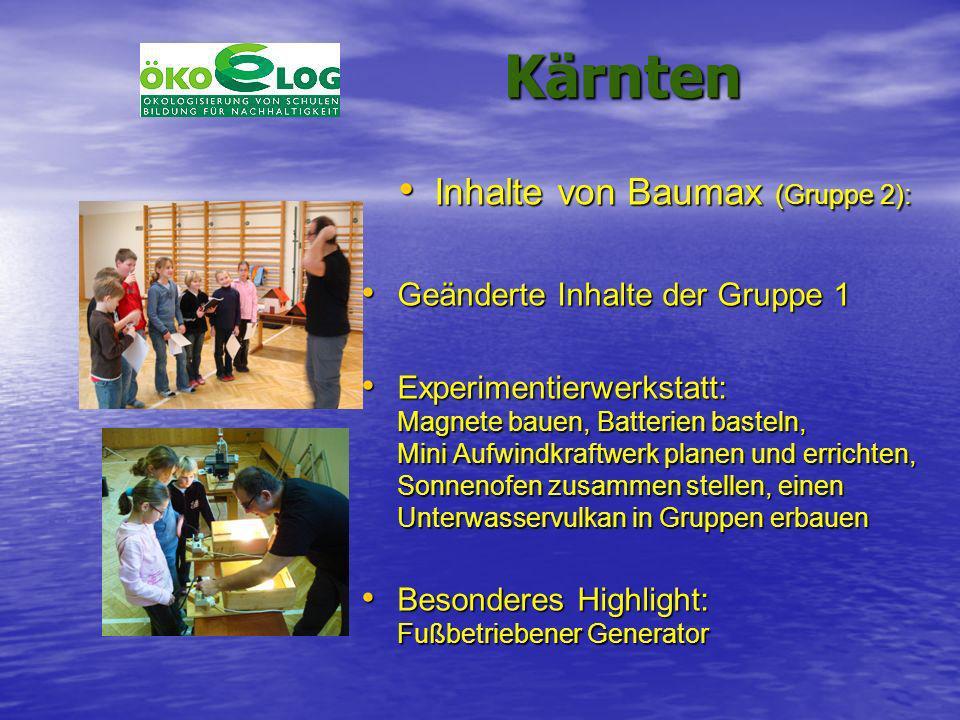 Inhalte von Baumax (Gruppe 2):
