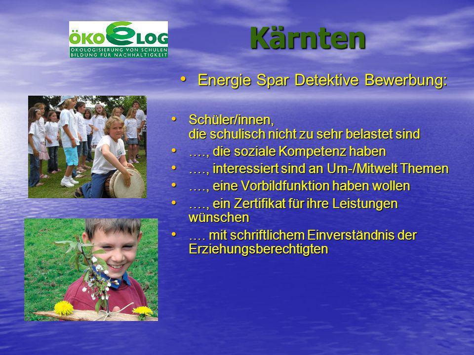 Energie Spar Detektive Bewerbung: