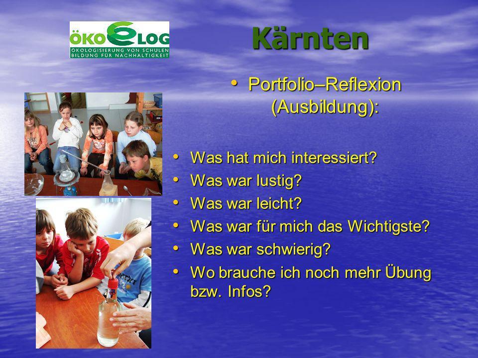 Portfolio–Reflexion (Ausbildung):