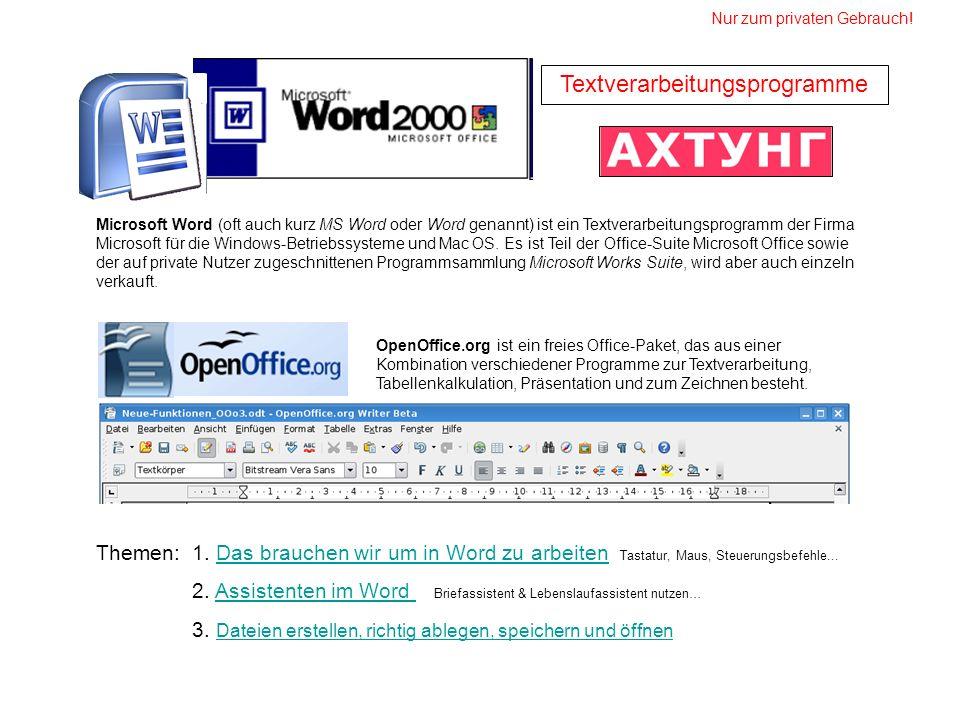 Textverarbeitungsprogramme